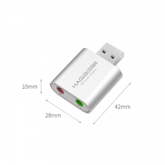 USB External Sound Card Sliver