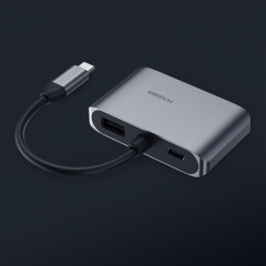 USB-C to HDMI VGA Adapter with PD Power Supply